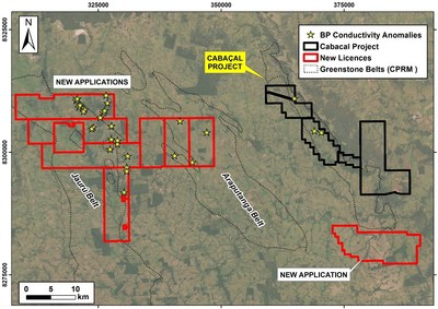 Figure 3: New license applications consolidating the district landbank. (CNW Group/Meridian Mining S.E.)