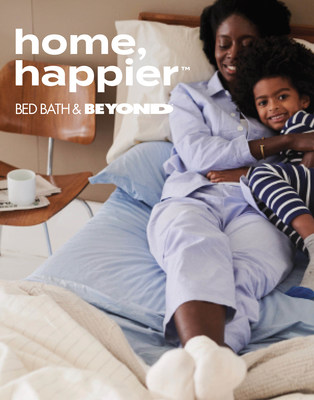 """Embarking on its 50th year as a leading home expert, Bed Bath & Beyond is inviting customers to """"Home, Happier"""" with a new brand campaign rooted in its purpose of inspiring customers and making it easy to feel at home."""