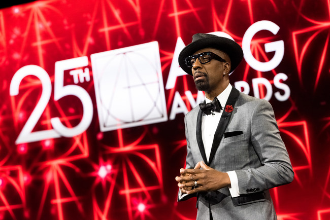 "Comedian JB Smoove, star of HBO's ""Curb Your Enthusiasm"" brought humor and surprise to the stage as host of the 25th Annual ADG Awards (photo credit: Greg Doherty)"