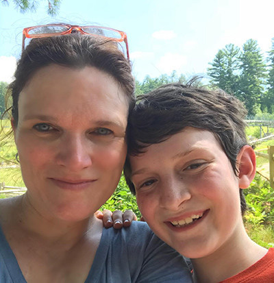 Kelly Wels & her son Riley.
