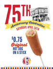 Hot Dog on a Stick® Celebrates 75th Anniversary with $0.75...