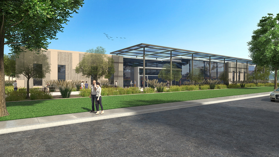 This 55,000 square foot build-to-suite manufacturing facility was designed by Pacific Cornerstone Architects for client Systems Machine Automation Components Corporation (SMAC). It is located in the Carlsbad Research Center Business Park in northern San Diego County and features passive solar cooling throughout the building.