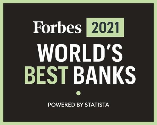 Forbes 2021 World's Best Banks logo