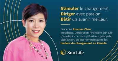 Rowena Chan de la Sun Life est nommée leader du changement au Canada (Groupe CNW/Sun Life Financial Inc.)