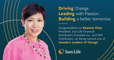 Sun Life's Rowena Chan named among Canada's Leaders of Change (CNW Group/Sun Life Financial Inc.)