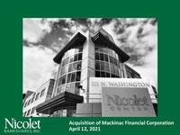Nicolet Bankshares, Inc. To Acquire Mackinac Financial Corporation