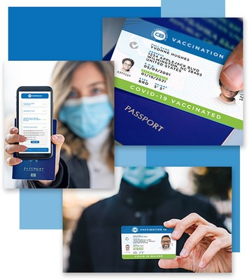 Real Vaccination ID COVID-19 Vaccine & Waiver Cards, used to help CastleBranch implement a legally compliant vaccine requirement. (PRNewsfoto/CastleBranch)