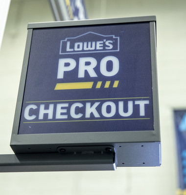 Lowe's Enhanced Pro Shopping Experience – Dedicated Pro Checkout gets Pros back to work more quickly.
