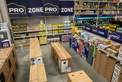 Lowe's Enhanced Pro Shopping Experience – The Pro Zone offers a variety of products for grab-and-go convenience.