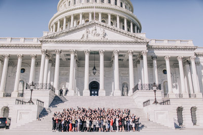 Beautycounter team lobbying on Capitol Hill