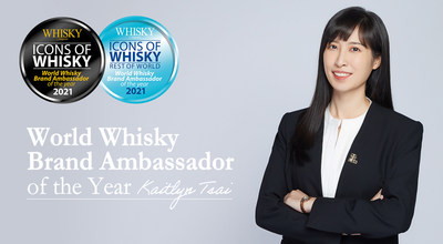 """Kaitlyn Tsai conquista seu primeiro prêmio de """"Embaixador Mundial de Marca de Uísque do Ano"""""""