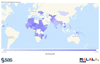 SAS and Malala Fund identify countries where girls are most at risk of experiencing educational interruptions due to climate change.
