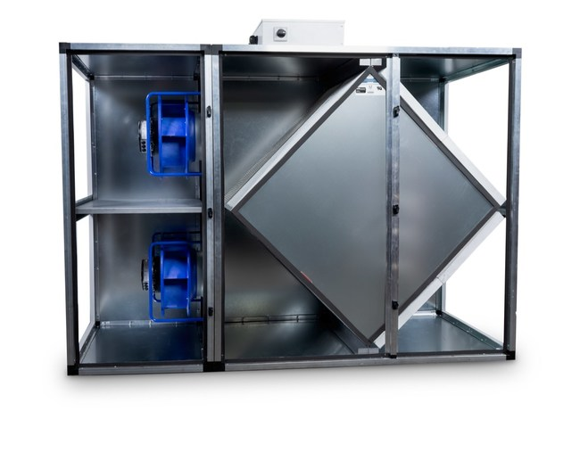 Oxygen8 Nova 100% Electric, Low-Profile and High-Efficiency ERV with Polymer Membrane Core and ECM Fans