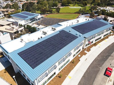 Aerial view of Hermosa Vista School in Hermosa Beach, CA, designed by SVA Architects.  Photo courtesy SVA Architects.