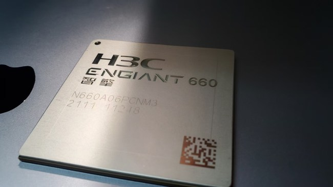 H3C Semiconductor launches its first network processor chip ENGIANT 660. Photo courtesy of H3C Semiconductor.
