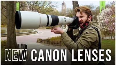Canon Lenses - RF-Mount Telephoto  600mm, 400mm and 100mm