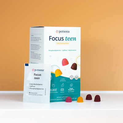 From videos of dogs riding Roombas to extracurriculars and test scores, teens have a lot to be distracted by. Persona's new Teen Focus gummy vitamin packs are formulated to help teens stay on task. Teen Focus features super star ingredients like phosphatidylserine and saffron which help support a positive mood and concentration.