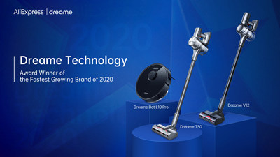 Dreame Technology:Award Winner of the Fastest Growing Brand of 2020 on AliExpress