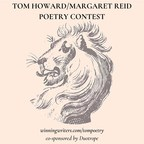 Winning Writers Announces the Winners of the 18th Annual Tom Howard/Margaret Reid Poetry Contest