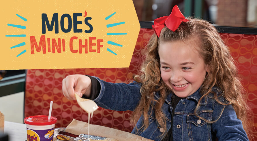 The Moe's Mini Chef Contest is giving children the opportunity to create and name their very own kids menu item.