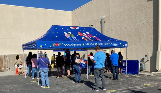 The first of multiple upcoming clinics at IEHP's Victorville Community Resource Center was held on Monday, April 5, and administered 465 vaccines.