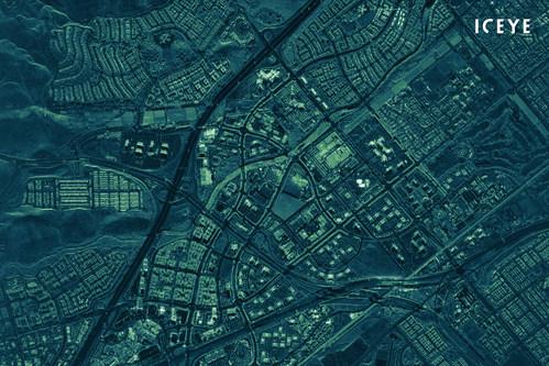 ICEYE radar satellite image of Irvine, CA