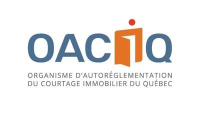 Logo de l'Organisme d'autoréglementation du courtage immobilier du Québec (OACIQ) (Groupe CNW/Organisme d'autoréglementation du courtage immobilier du Québec (OACIQ))