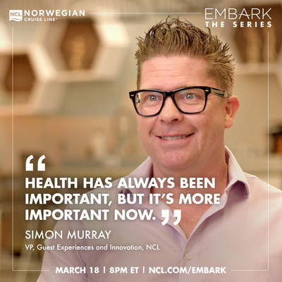 "Norwegian Cruise Line premieres ""EMBARK – The Series"" tonight at 8 p.m. ET at www.ncl.com/embark with the ""Great Cruise Comeback"" episode focusing on the ongoing measures for a healthy and safe return to sailing. Tune in at 7:30 p.m. ET for a live pre-show conversation and Q&A session with NCL President and CEO Harry Sommer."