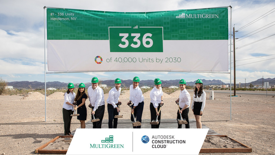 MultiGreen Turns to Autodesk Construction Cloud to Launch Workforce Plus Initiative and Build 40,000 Economically and Environmentally Sustainable Housing Units in 10 years
