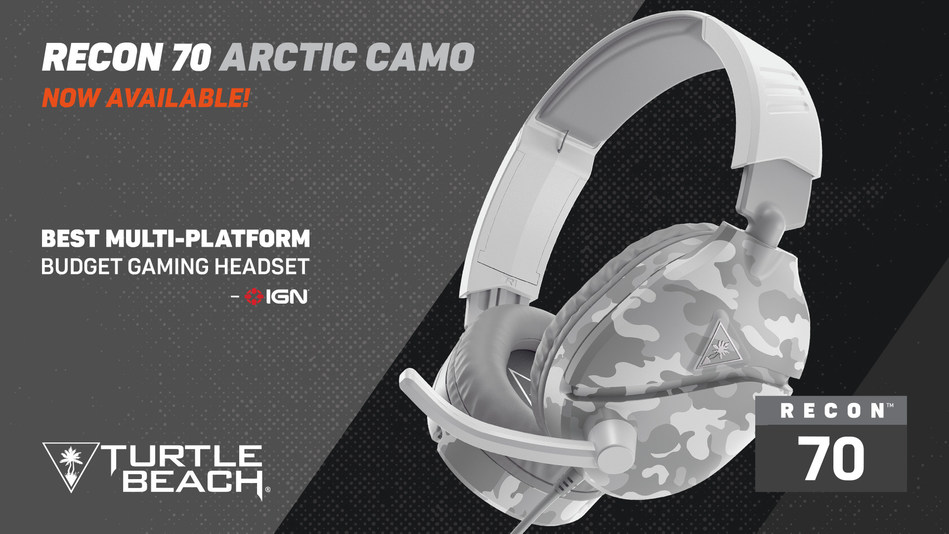 The Turtle Beach Recon 70 in the New Arctic Camo is an Easy Choice for Gamers Looking for the Perfect Value Gaming Headset.