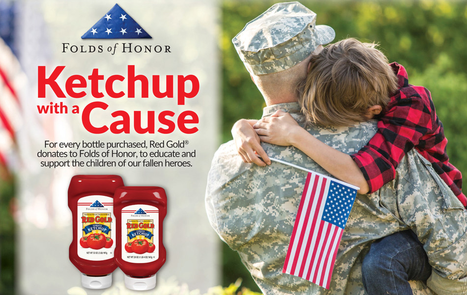 Red Gold is a proud sponsor of Folds of Honor.