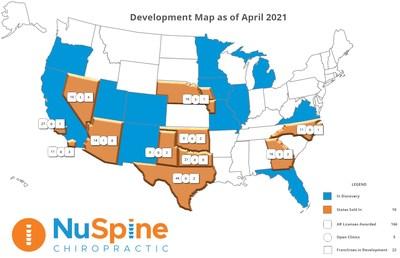 Development Map as of April 2021