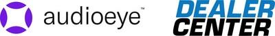 AudioEye trademarked logo next to DealerCenter logo