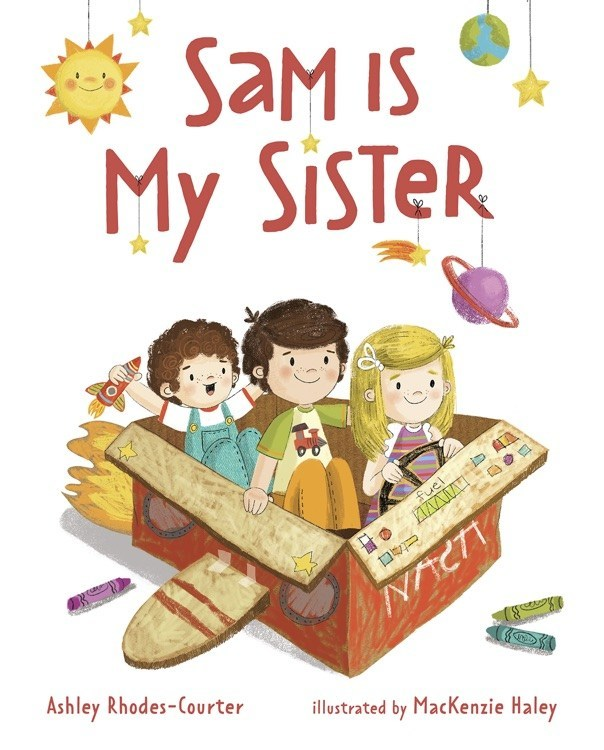 """Cover of new book, """"Sam Is My Sister"""" which features the story of three siblings, one of whom is transgender."""