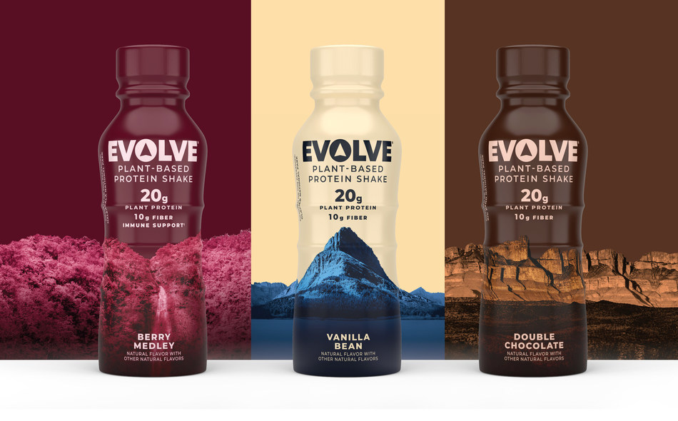 Newly Reformulated EVOLVE Plant-Based Protein Shakes