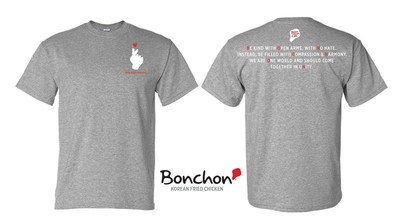 Bonchon Launches New Custom T-shirt Line With 100% Of Proceeds Benefitting The AAPI Community