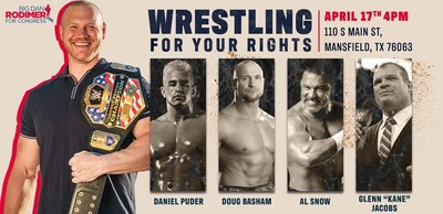 Dan Rodimer is holding Wrestle For Your Rights, a free event for families.