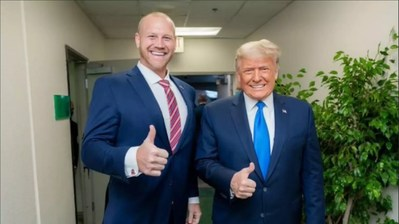 Dan Rodimer pictured with President Trump.