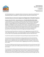 Josemaria Resources Announces Approval and Registration of Swedish Prospectus (CNW Group/Josemaria Resources Inc.)