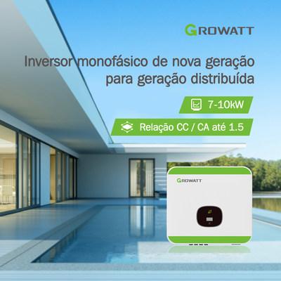 Growatt inversor monofásico de nova geração para geração distribuída (PRNewsfoto/Growatt)