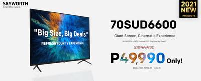 70SUD6600 Home Cinema TV