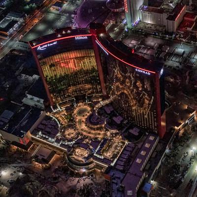 Resorts World Las Vegas (Photo Credit: Maverick Helicopters)