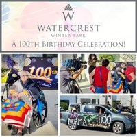 Watercrest Celebrates the 100th Birthday of Norma Garrison at...