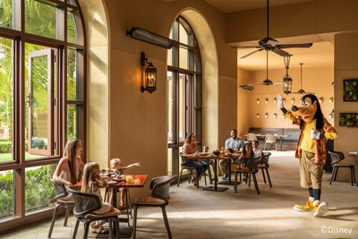 The Good Morning Breakfast with Goofy & His Pals is a weekly character breakfast offered at the resort's Ravello restaurant, which features both indoor and terrace seating.