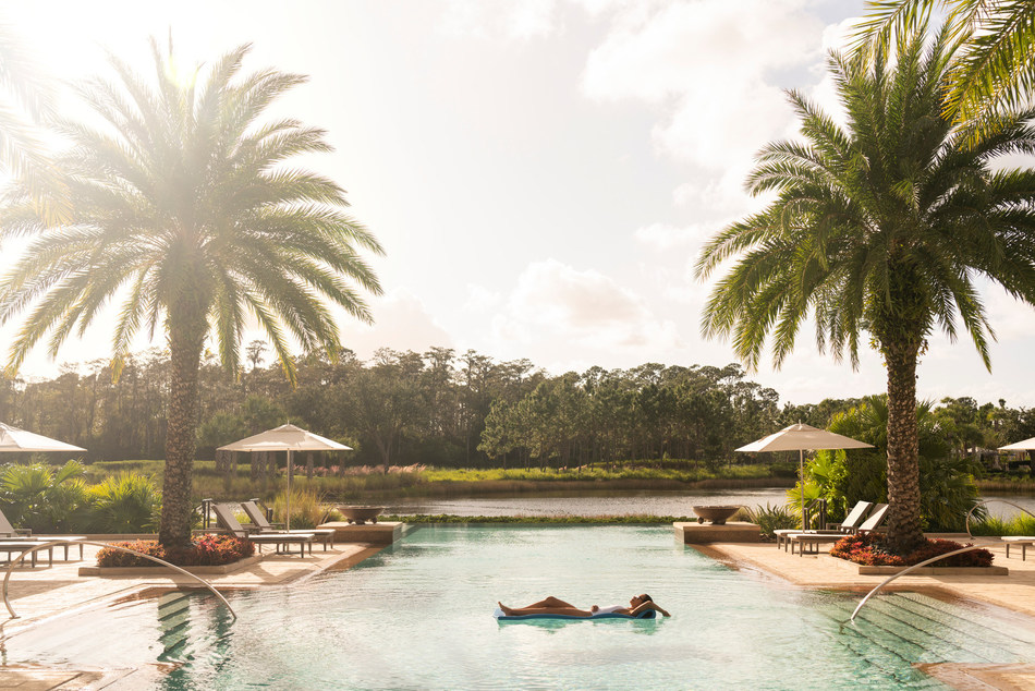 The lakeside, infinity edge Oasis Pool at Four Seasons Resort Orlando is an adult-only pool for ages 21 and older.