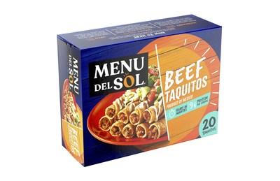 Menu del Sol 20 Beef Taquitos (PRNewsfoto/Sigma)