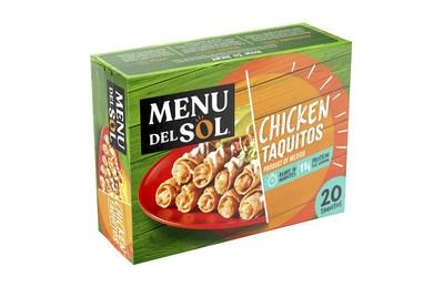Menu del Sol 20 Chicken Taquitos (PRNewsfoto/Sigma)