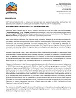 JOSEMARIA RESOURCES CLOSES C$52 MILLION FINANCING (CNW Group/Josemaria Resources Inc.)