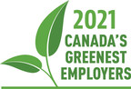 Setting new sustainability standards in the workplace and at home: 'Canada's Greenest Employers' for 2021 are announced