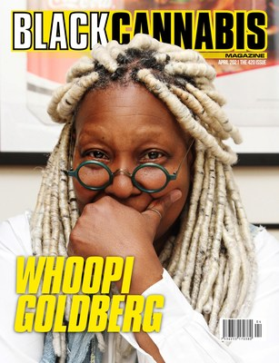 The inaugural issue of Black Cannabis Magazine features Whoopi Goldberg on the cover.